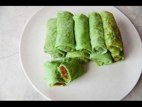 IndonesischKochen.com - Exotische Kochrezepte: Kokos Pfannkuchen Rollen (Dadar Gulung)