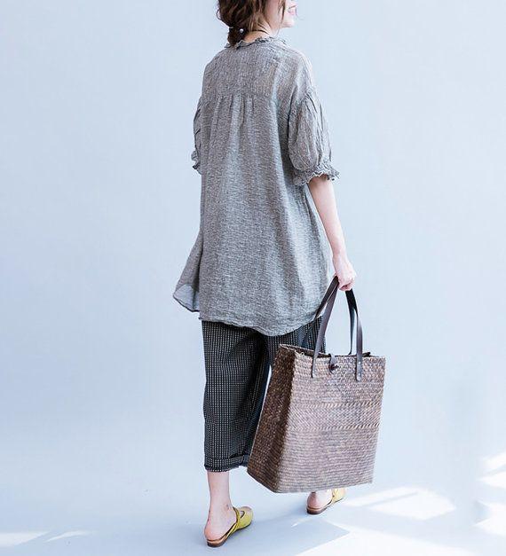 vrouwen linnen / tops/vrouwen losse shirts/vrouwen door babyangella