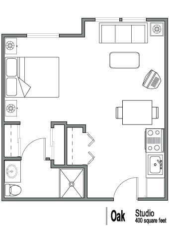 26 best images about 400 sq ft floorplan on pinterest for Garage studio plans