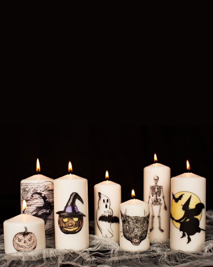 Reader Krys shows you how to make these Halloween-themed DIY pillar candles for the holiday. You choose your image, and use a simple technique to make your own festive (and inexpensive) tabletop decorations.