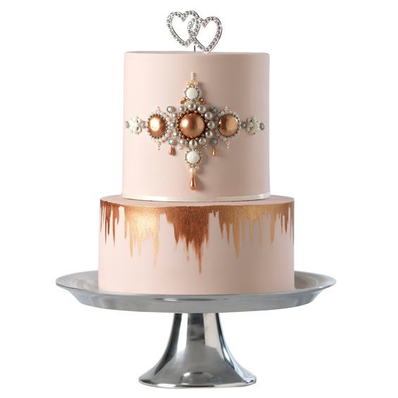 14 best Rose Gold Wedding Cakes images on Pinterest Gold ...