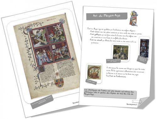 Fiches artistes - l'art du Moyen Age, l'art de l'Antiquité, préhistoire...