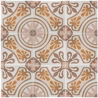 Somertile 13x13 Inch Olivia Beige Ceramic Floor And Wall