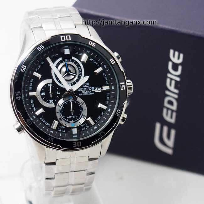 jam tangan edifice EFR-547D-1AVUEF silver black