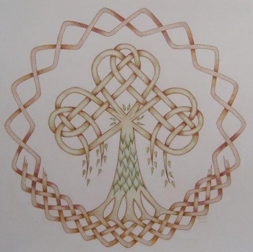 Keizerskroon Keltische boom Gaia. Voorbeeld voor een quilt