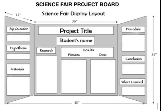 science fair project board layout Compete instructions on how to do a science fair project and set up a board includes pictures, examples, resources and step-by step original projects.