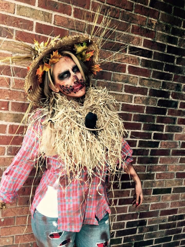 scary scarecrow costume make up by Fiorina