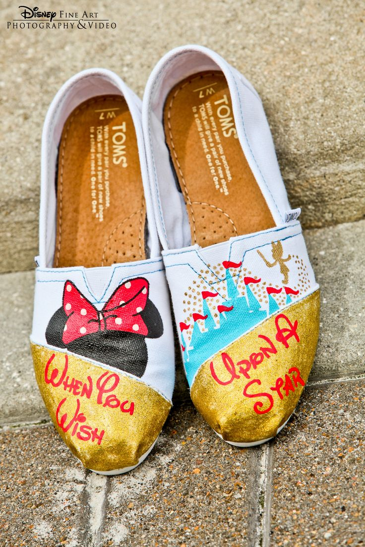 New Style : Disney Painted Shoes Ideas