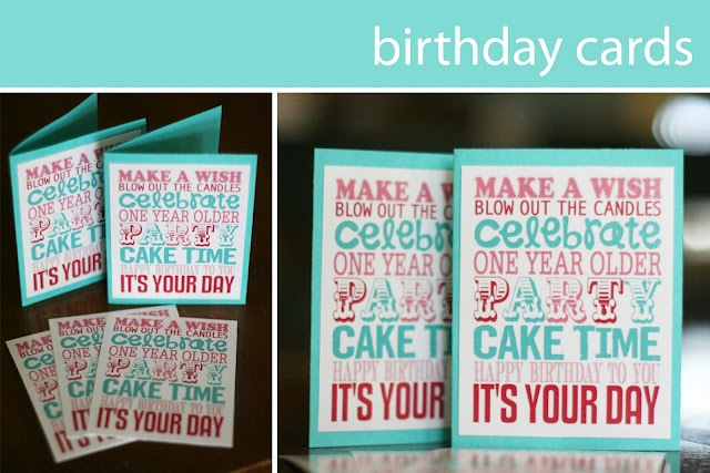 Free printables to make your own birthday cards (boy & girl versions)  |  {eighteen25}