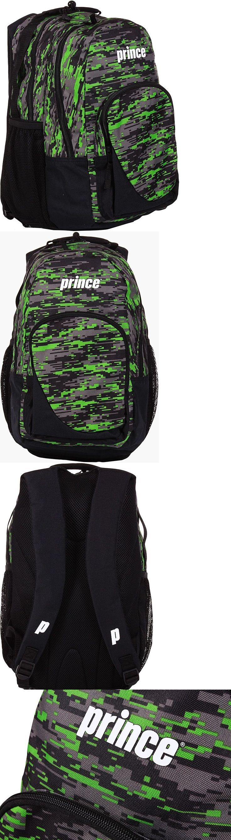 Bags 20869: Prince 2016 Team Backpack Tennis Racquet Bag Black Digital Camo Green New Nwt -> BUY IT NOW ONLY: $64.99 on eBay!
