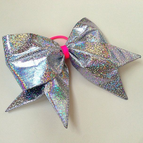 Silver and Pink Cheer Bow great for u cheerleaders out there!