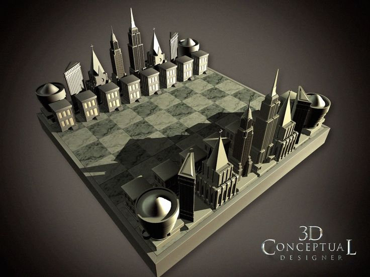 unique chess sets | 3DconceptualdesignerBlog: Project Review: Two Weeks Notice 2002