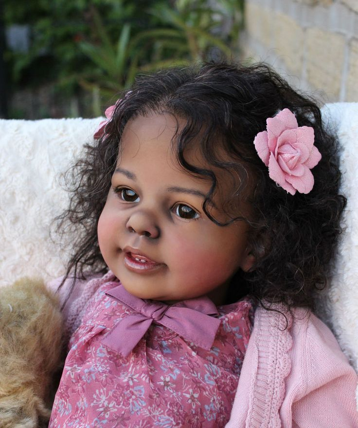 CUSTOM ORDER FOR Black AA Toddler Reborn Girl Ethnic Biracial Doll Katie Marie