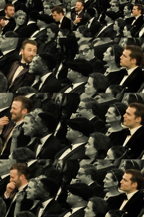 I'm glad Chris Evans and Henry Cavill are still dating.