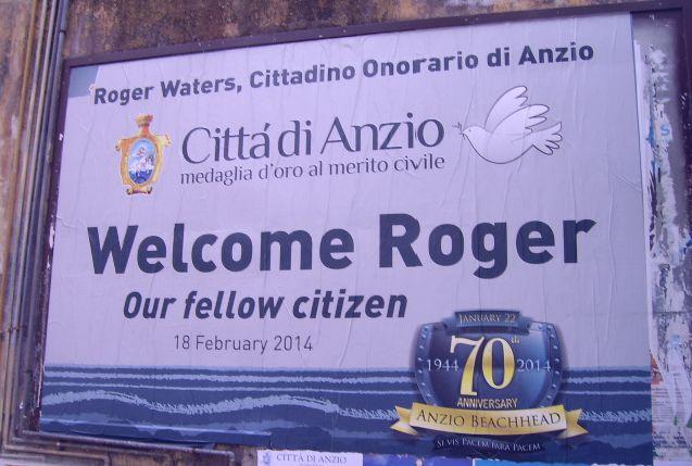 Roger Waters citoyen d'honneur d'Anzio