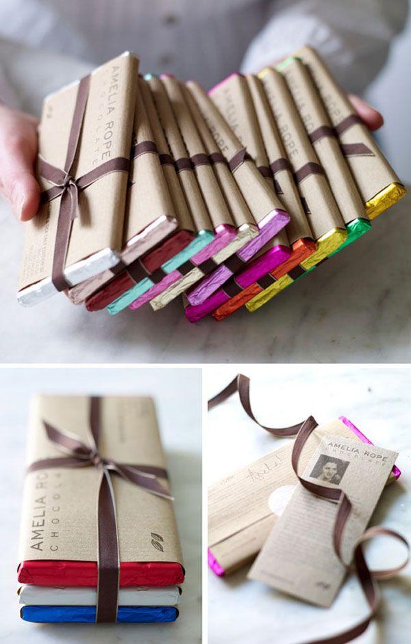 Chocolade kleurige verpakking