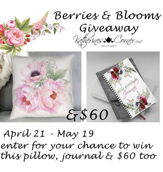 I LOVE rewarding all my wonderful Bloggy friends with parties, recipes and giveaways! It's a lovely bonus to create new friends by providing these little extras on Marilyn's Treats! Keeping in the spirit of sharing and promoting so many talented bloggers I'm cohosting The Berries and Blooms Giveaway April 21 to May 19. via @marilynlesniak