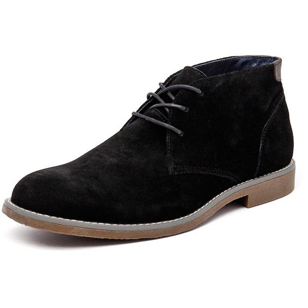 Hush Puppies Terminal Black Suede ($83) ❤ liked on Polyvore featuring men's fashion, men's shoes, men, shoes, guys, mshoes, mens black shoes, hush puppies mens shoes, mens lace up shoes and mens suede shoes