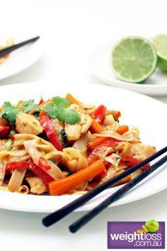 Vietnamese Chicken Stir Fry. #HealthyRecipes #StirFryRecipes #WeightLoss #WeightlossRecipes weightloss.com.au