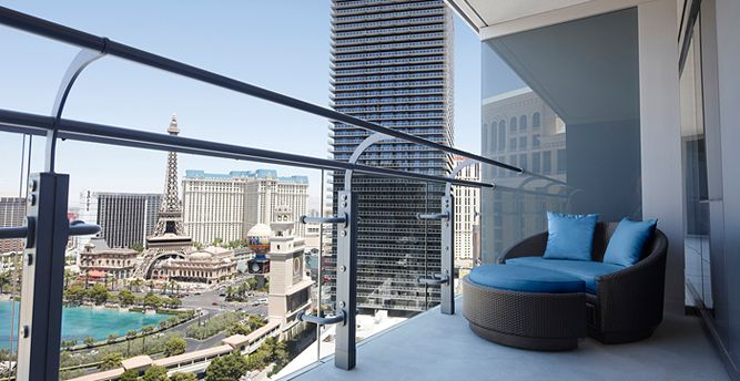 Cosmopolitan, Las Vegas, balcony Hotel on the strip.  Can't get a better view!