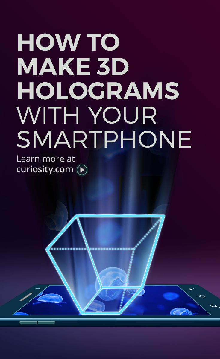 How To Turn Your Smartphone Into A 3D Hologram | Super Cool Science Experiment Check out this video and more like it below: http://curiosity.im/PhoneHologram