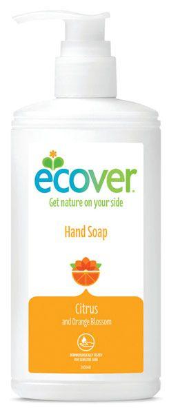 ECOVER folyékony szappan 250ml - citrus és narancs illatú öko szappan. Új csomagolás.