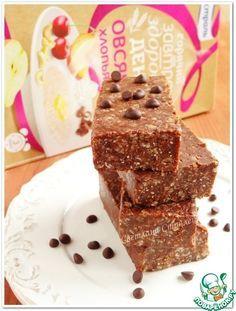 Шоколадные батончики с овсяными хлопьями - кулинарный рецепт