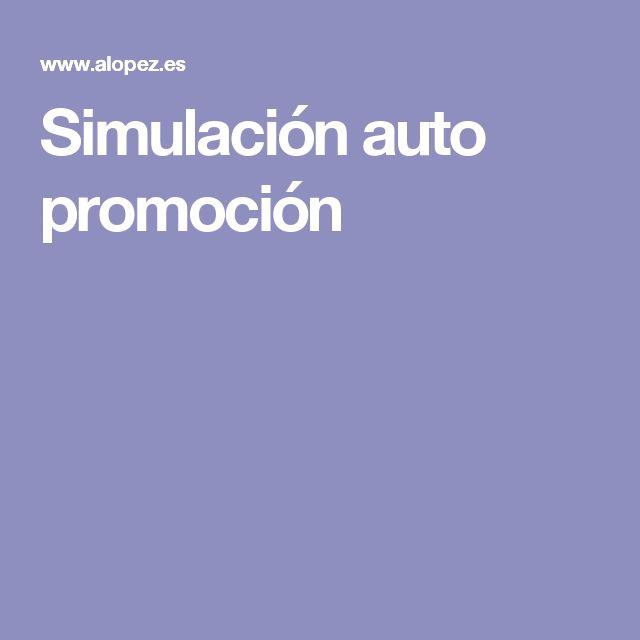 Simulación auto promoción