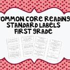 This set includes labels to organize file folders by Common Core Standards. This set covers CCSS Reading for First Grade only. The larger labels ar...