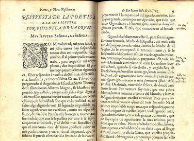 Respuesta a Sor Filotea was a letter written by Sor Juana defending women's rights to education.