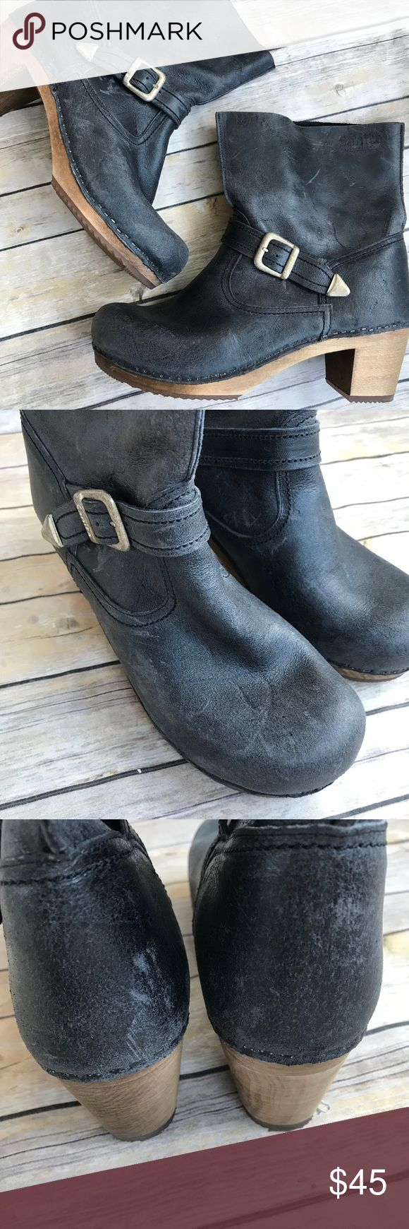 """Sanita Boots Gorgeous broken in deep gray leather boots by Sanita. Wooden soles. Incredibly well made. Wear as shown. Tons of life left! Labeled as a size """"40"""" Sanita Shoes Ankle Boots & Booties"""