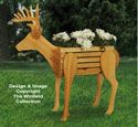 Deer Planter Woodworking Pattern