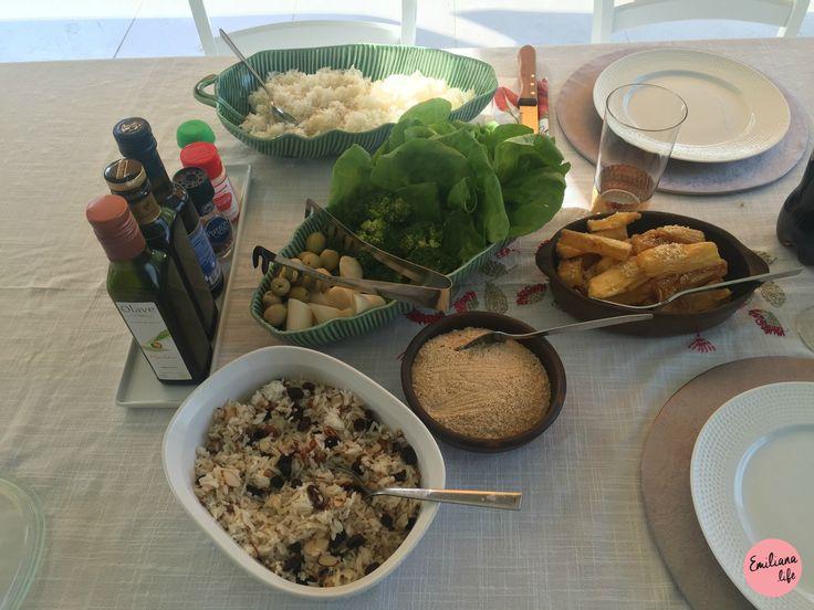 dicas para fazer churrasco brasileiro, o que nao pode faltar no churrasco brasileiro, farinha temperada e mandioca