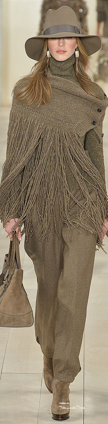 "Ralph Lauren Fall 2015 ""And the LORD said to Moses, ""Go to the people and consecrate them today and tomorrow. Have them wash their clothes."" Exodus 19:10 ----- I just wish I was tall enough to carry this off.  This is incredible!!!"