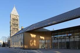facade in brass in Lund, Sweden