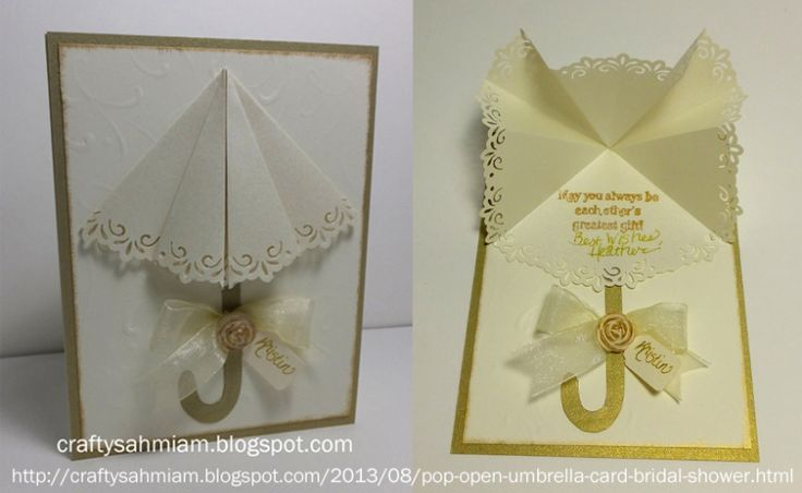 Pop Open Umbrella Card - Bridal Shower by heather freeman - Cards and Paper Crafts at Splitcoaststampers
