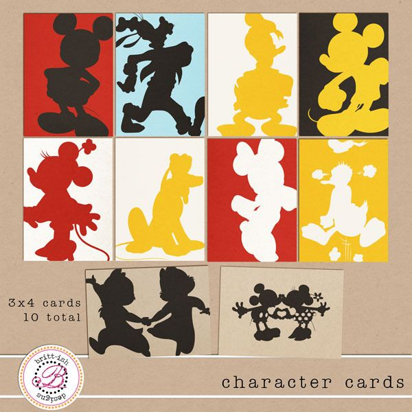 Project Mouse- FREEBIE (Project life Disney inspired cards) Character Cards by Britt-ish Designs