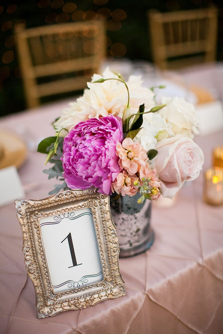 Doing this! Picture frame table numbers... all different antique frames from the flea market or antique store