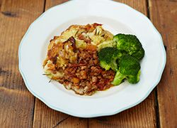 Vegetarian Shepherd's Pie with Cheddar and Lentils