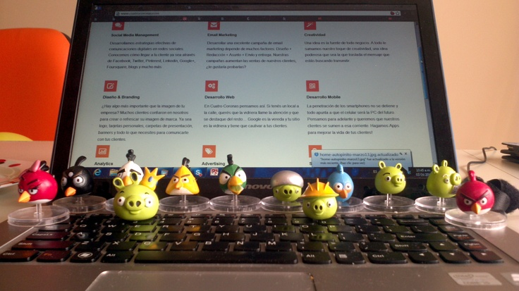 #AngryBirds Team at the #Office