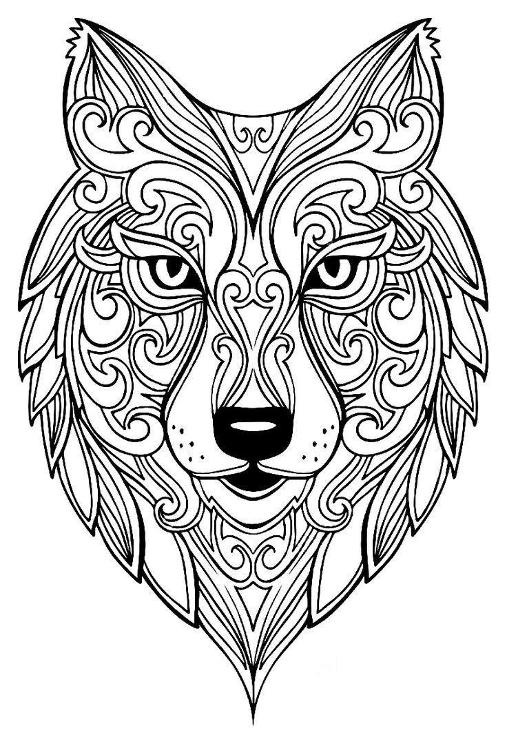 Wolf Coloring Pages Chris Mozarowski Chris Coloring Mozarowski Pages Wo Mandala Tiere Malvorlagen Mandala Ausmalen