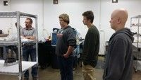 Students on their Manufacturing Field Trip on Oct 9