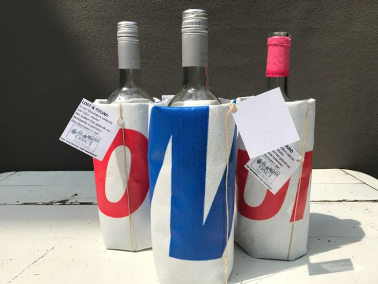 Wijnkoeler reclamedoek