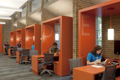 """Team Booths"" at Odegaard Undergraduate Library, University of Washington"