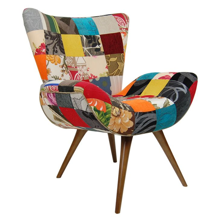 Poltrona patchwork sala pinterest home and patchwork for Fauteuil eames patchwork