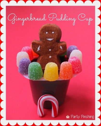 gingerbread pudding cup, easy gingerbread house, gingerbread ideas for kids, easy christmas desserts for kids