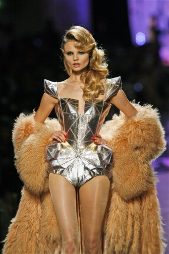 Great 3D Sculptural Fashion Design by Jean Paul Gaultiere!  Leather Corset! Haute Couture www.fashion-design-course.com
