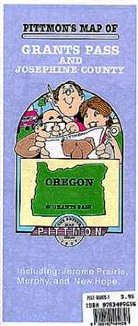 Grants Pass, Oregon by Pittmon Map Company