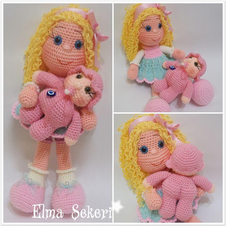 Amigurumi Sarışın Kıvırcık Saçlı Bebek / Doll amigurumi doll crochet