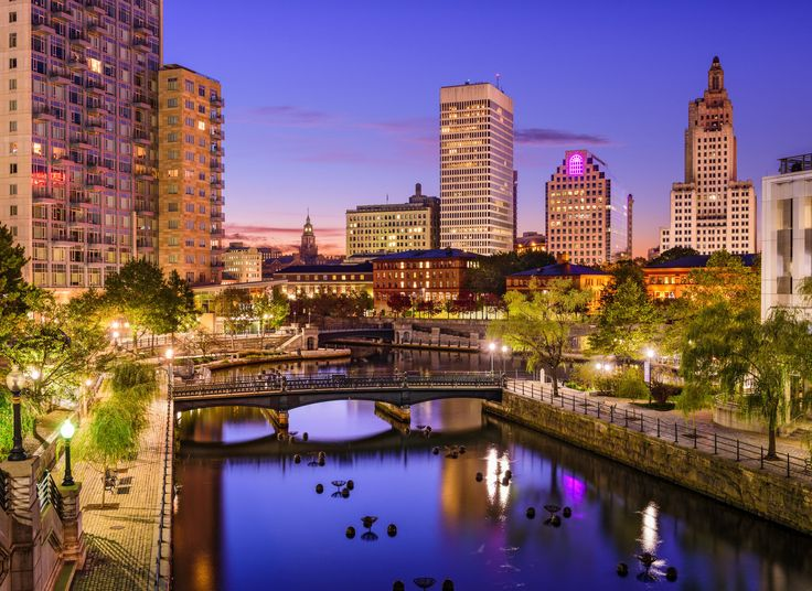Providence Providence, Rhode Island water outdoor building River sky City geographical feature skyline landmark cityscape human settlement reflection urban area tourism Downtown evening skyscraper metropolis dusk waterway